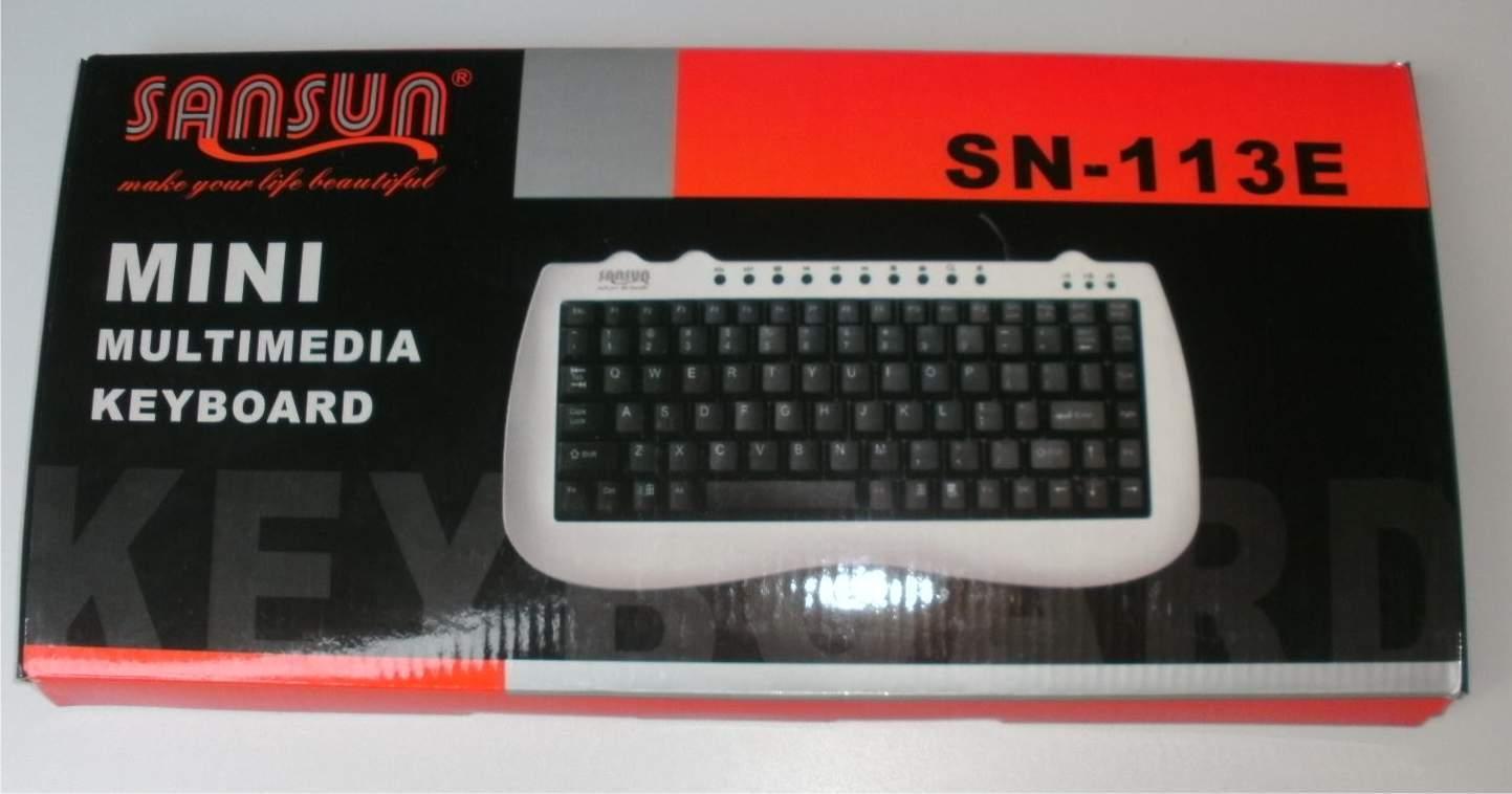 mini tastatur mit usb anschluss von sansun sh. Black Bedroom Furniture Sets. Home Design Ideas