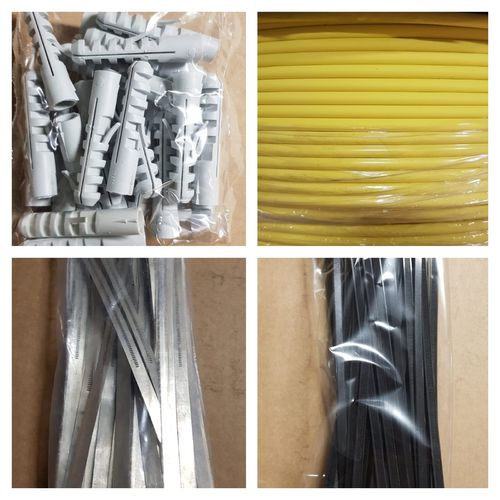 Cable tie dowel shrink tubing