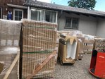 30 pallets sanitary ware outside Europe Russia Israel